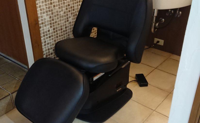 シャンプー椅子交換しました